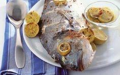 Τσιπούρα στο φούρνο με λεμόνια και μυρωδικά Greek Cooking, Oven, Pork, Meat, Kale Stir Fry, Ovens, Pork Chops