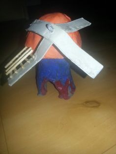 Windmolen molen knutselen kind kinderen klei verven