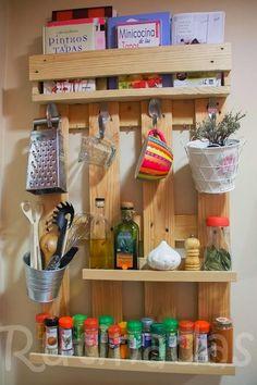 Palete para organizar a cozinha - * Decoração e Invenção *