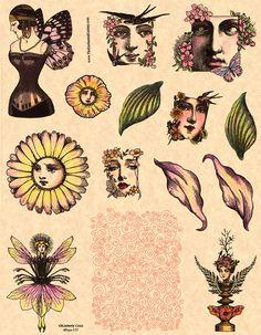 Fondo del remolino espiral sello de goma patrón para atc aceo tarjetas de comercio del artista