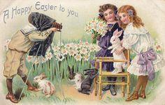 Vintage Postcard - Easter