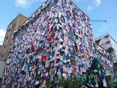 M and S transformed Brick Lane to show how it plans to give old clothes a future through its new fashion initiative.