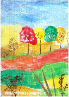 Podzim – malovaný monotyp Autumn Art, Manualidades