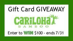 Win a $100 Cariloha Bamboo Gift Card!  http://southernkrazed.com/2014/07/win-100-cariloha-bamboo-gift-card/