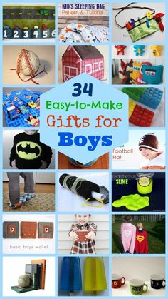 34 Awesome Handmade Gifts for Boys
