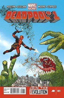 Deadpool #1 by DUGGAN, http://www.amazon.com/dp/B009ZKNT36/ref=cm_sw_r_pi_dp_hk0Trb1A3EVY6 Welcome to Wade's World