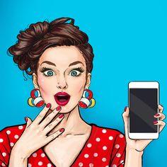 A text from Bill. Pop Art Drawing, Cute Girl Drawing, Art Drawings, Farmasi Cosmetics, Pop Art Women, Pop Art Wallpaper, Pop Art Girl, Pop Art Illustration, Jolie Photo