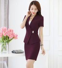Summer Formal Purple Blazer Women Business Suits with Skirt and Jacket Sets Ladies Work Wear Office Uniform Styles - Woman Jackets and Blazers Blazers For Women, Suits For Women, Jackets For Women, Clothes For Women, Work Clothes, Work Wear Office, Business Women, Business Suits, Festival Outfits