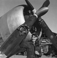 Lieutenant Edwin Wright looks upon his airplane after being hit by an 88 mm shell over the city of Munster Germany. Lieutenant Edwin Wright looks upon his airplane after being Ww2 Aircraft, Military Aircraft, Fighter Aircraft, Photo Avion, P 47 Thunderbolt, Ww2 Planes, Fighter Pilot, Military History, Military Memes