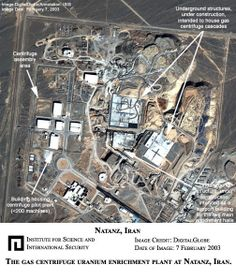 2003 satellite map of the Natanz Iran facility where Stuxnet struck