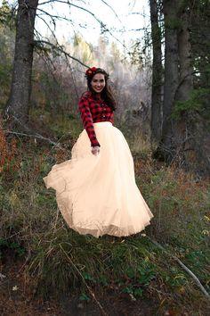 Shabby Apple Fallen Snow Tulle Maxi Skirt