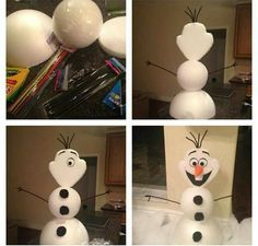 Frozen birthday party DIY Olaf