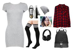 """(My fav outfit yet) be YOUrself"" by chavezmelissaa on Polyvore featuring Boohoo, Converse, The North Face, Rails, Beats by Dr. Dre and Michael Kors"