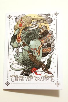 Krampus Card 2014 by MaskIllustration on Etsy
