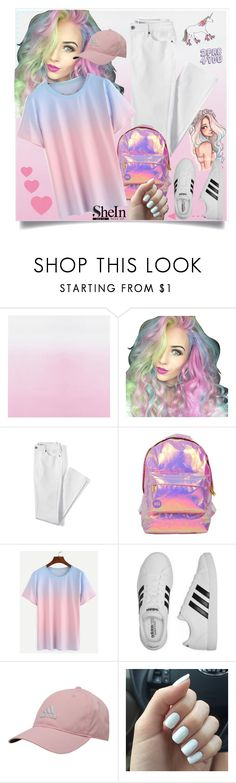 """I'm a Unicorn"" by deboraoliveira-1 ❤ liked on Polyvore featuring Lands' End, Miss Selfridge and adidas"