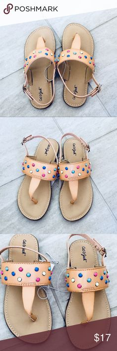 a12f8779f2b3 Toddler girls Robyn Thong Sandals Cat   Jack Beige NEW WITH TAG!! COLOR  BEIGE
