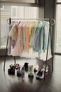 I pretty much only wear black and white but I can just pretend to have a rainbow dream closet right?