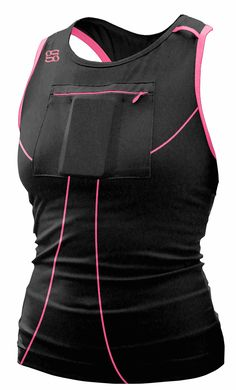 Gracie's Gear Long Tank ~ Long_Black_hotpink_front_square Workout Attire, Workout Wear, Workout Shirts, Workout Clothing, Fitness Clothing, Workout Outfits, Athletic Gear, Athletic Tank Tops, Athletic Outfits