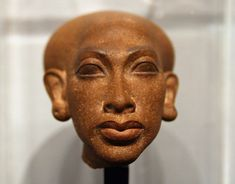 Head of the statue of a princess, one of the six daughters of Akhenaten and Nefertiti, New Kingdom of Ancient Egypt, 18th Dynasty, ca. 1350 BC