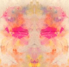 Rainbow Abstract T5 Rorschach Art Print