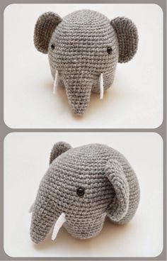 Hoy os traigo este precioso elefante que aunque parezca muy simple, no se lo recomiendo a l@s que estéis empezando. La parte de las patas y ...