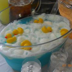 Baby shower punch blue hawaiian punch, sprite & pineapple sherbet