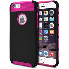 iPhone 6 Case Cute Protective Hard Shockproof [Drop Protection] Fashion Cover for Apple iPhone 6 (4.7') Impact Resistant Hybrid Slim Armor Case [ Black / Pink ] with Clear Screen Protector | MagicMobile