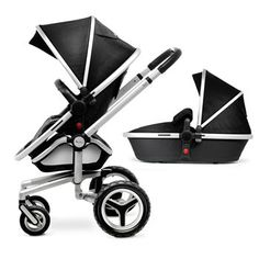 The Silver Cross Surf 2 pram system is suitable from birth to toddler. The newborn lie-flat carrycot is included in the package, along with the fully reclining, reversible pushchair seat. Umbrella Stroller, Pram Stroller, Baby Strollers, Silver Cross Prams, Strollers At Disney World, Surf 2, Prams And Pushchairs, Baby Prams, Strollers