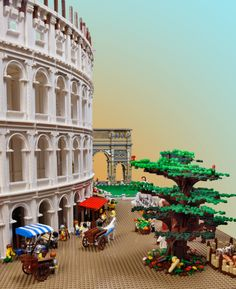 The Brick Man, Certified Lego Builder, Crafts Lego Coliseum (PHOTOS)
