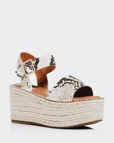 1b0e1b3ec00 Cute embossed snake skin espadrilles. Espadrille Sandals