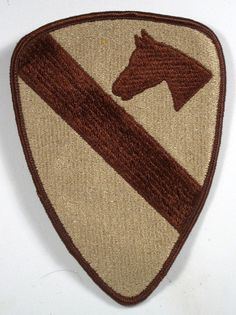 US Army First 1st Calvary Division Desert Shade Patch Insignia Fort Hood, Texas