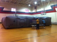 Our Mobile Laser Tag Arena being set up at  one of our summer camp programs.