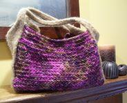 herringbone bag - my own felted purse pattern