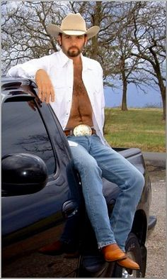 West Texas Cowboy ~ and his truck <3