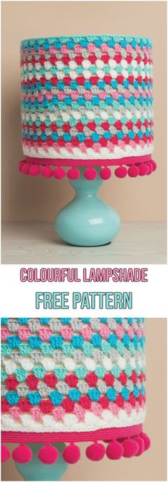 There are so many things that you can crochet. How about refurbishing your old lamp with a new Lampshade? Here are 5 Crochet Lampshade Ideas with Free Patterns. Crochet Home, Crochet Crafts, Easy Crochet, Crochet Projects, Free Crochet, Knit Crochet, Crafts For Teen Girls Room, Crochet Lampshade, Colorful Lamp Shades