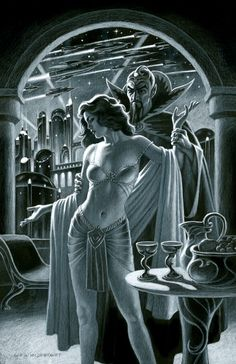 Ming and Dale Arden - Black Board, Greg Hildebrandt Science Fiction Art, Comic Art, Fantasy, Retro Futuristic, Science Fiction Artwork, Pulp Fiction, Art, Movie Art, Fantasy Artist