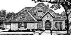 European Style House Plans - 2908 Square Foot Home, 1 Story, 3 Bedroom and 2 3 Bath, 3 Garage Stalls by Monster House Plans - Plan 8-454