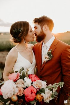 wedding day portraits outdoors from a modern rustic wedding at The Butler Barn Wedding by Dawn Charles, Oregon based Photographer Wedding First Look, Dream Wedding, Perfect Wedding, Wedding Summer, Orange And Pink Wedding, Wedding Couples, Wedding Ideas, Wedding Details, Diy Wedding