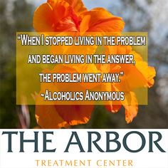 """""""When I stopped living in the problem and began living in the answer, the problem went away."""""""