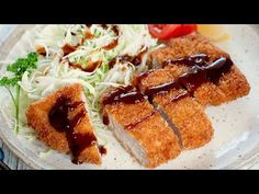 Breaded, deep fried crispy pork cutlet, Tonkatsu (Japanese Pork Schnitzel) is quite easy to make and served with sweet and spicy tonkatsu sauce.