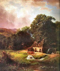 The Old Mill by Albert Bierstadt