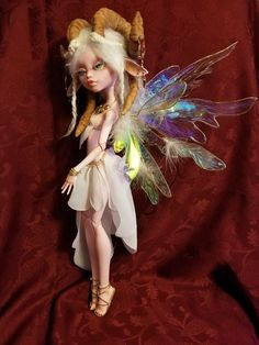"""OOAK Custom Monster High repaint Satyr Fairy 18"""" /19"""""""