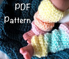PATTERN:  Toddler & Baby Leg Warmers, 4 sizes, Slouchy, Easy Crochet PDF, InStanT DownLoaD, Baby Girl sizes NB-24m, Permission to Sell on Etsy, $4.99