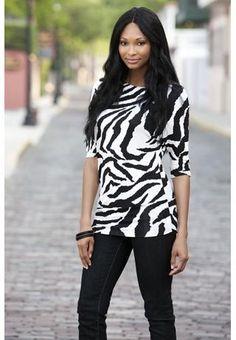 BODY CENTRAL zebra print dolman... Workin on my animal print part of my wardrobe