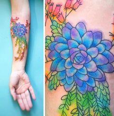 Briana Sargeny Buju flower tattoo