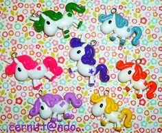 Fimo rainbow unicorns by cernittando.deviantart.com on @deviantART