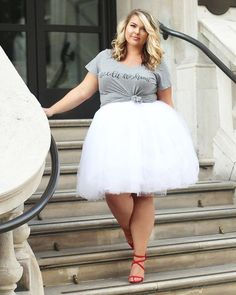 Plus Size Clothing for Women - Society+ Premium Tutu - White (Sizes 1X - 6X) - Society+ - Society Plus - Buy Online Now!