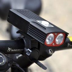 XANES DL20 T6 1800LM 2 LED Bicycle Light USB IPX6 Bike Front Light Night Riding Headlightt Flashlight Sale - Banggood.com Tactical Supply, Sports Glasses, Bicycle Lights, Ski And Snowboard, Flashlight, Usb, Bike, Night, Outdoor