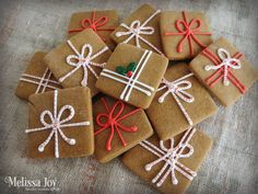 Brown paper packages, tied up with string!- Present Gingerbread Cookies
