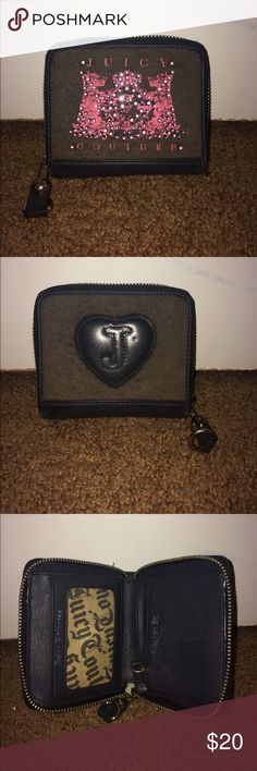 "Juicy Couture Wallet Juicy Couture wallet. In great condition!! Used gently. The letters have cracks on the front , as shown in pictures, as well as the word ""juicy"" on the inside flap. That's the only problem with it. Everything else is still in amazing condition. No stains and smoke free home. Feel free to make offers ! Juicy Couture Bags Wallets"
